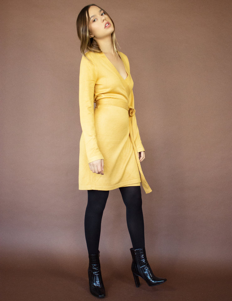 PEREGRINE DRESS- MUSTARD