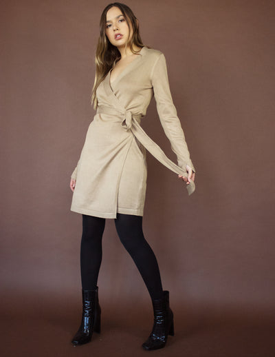 PEREGRINE DRESS- TAUPE