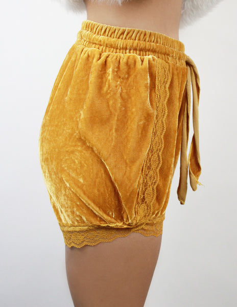 RASP SHORTS- YELLOW - Blue District