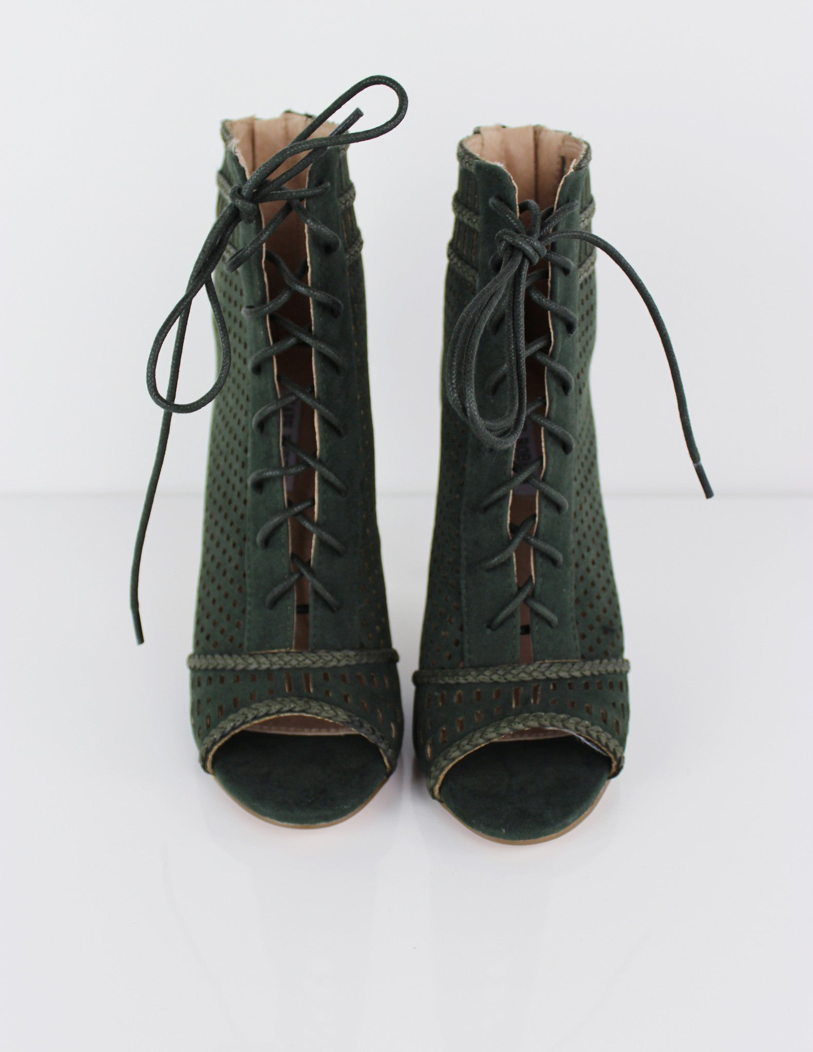 RIBA BOOTS- OLIVE - Blue District