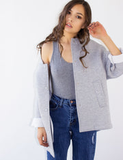 RIGEL SHORT COAT- GRAY - Blue District