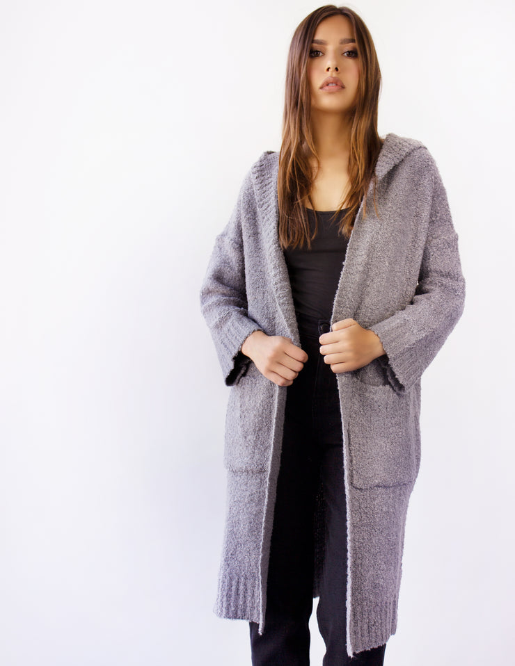 SMOKE LONG KNIT COAT
