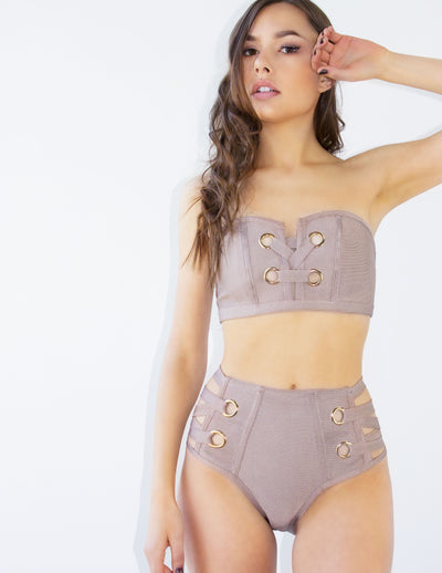 TOPAZ SWIMSUIT-TAUPE - Blue District