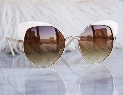 VANE SUNGLASSES- WHITE - Blue District
