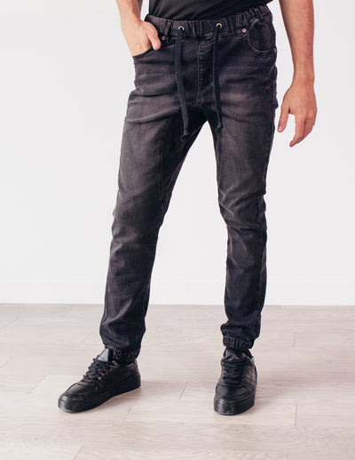 ACUTE DENIM JOGGERS- SHADOW