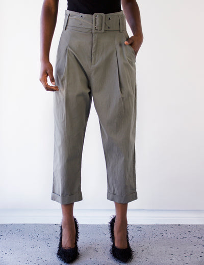 BERYL CHINO PANTS - Blue District