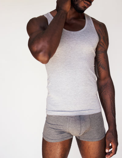 BAMBOO UNDERSHIRTS TANK TOP- SMOKE