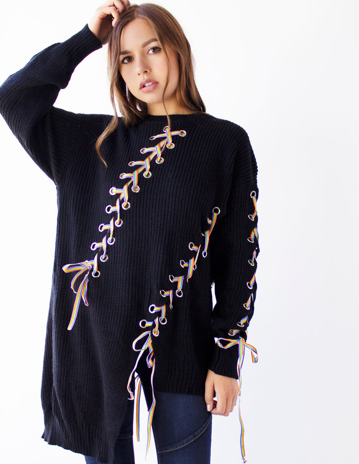 FINIAL SWEATER - Blue District
