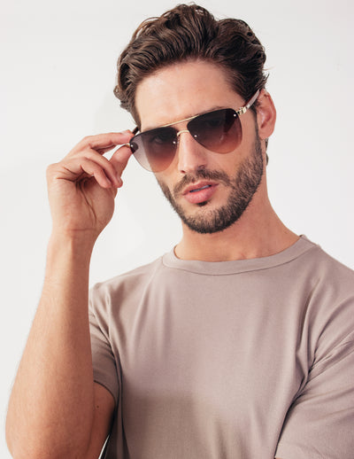 HEROIC SUNGLASSES - DARK/GOLD
