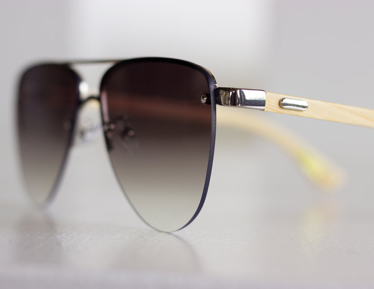 HEROIC SUNGLASSES - NATURAL/SILVER