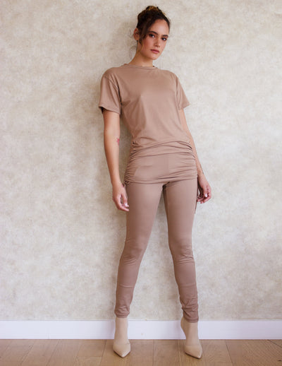 LAYIA PANTS SET- SAND