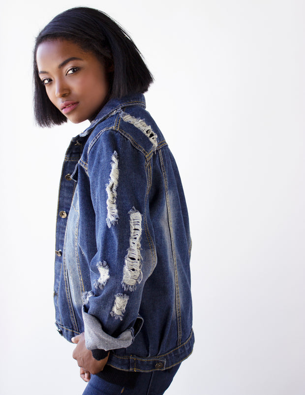 LEVEL DENIM JACKET - Blue District