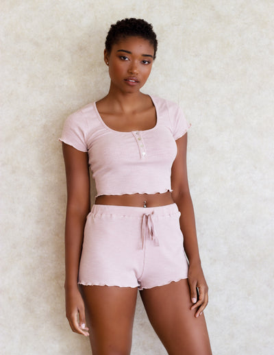 MADDER SHORTS SET- NUDE