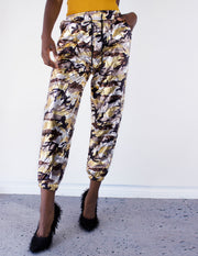 MARDI CAMOUFLAGE JOGGERS - Blue District