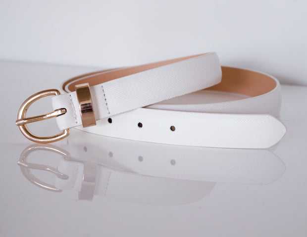 NOBLE BELT- WHITE