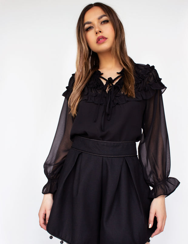 NOON BLOUSE- ONYX