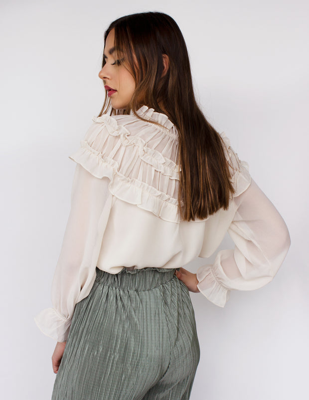 NOON BLOUSE- VANILLA
