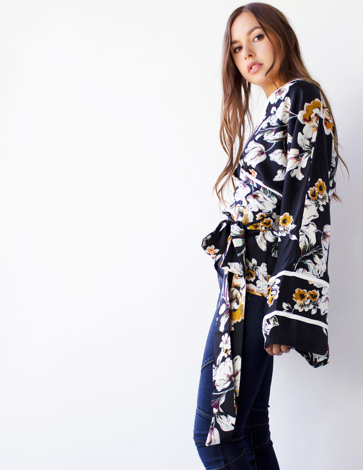 PRIMA KIMONO TOP - Blue District