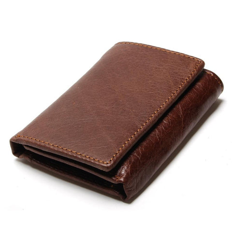 Men's Slim Leather Mini Wallet