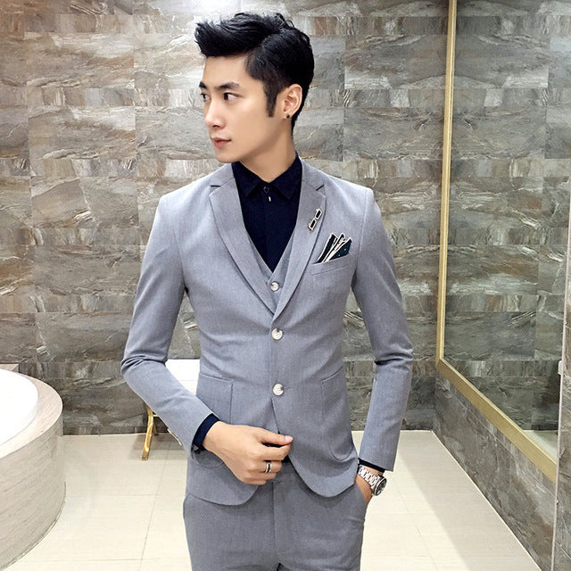 High Quality Men black gold tuxedo men suit