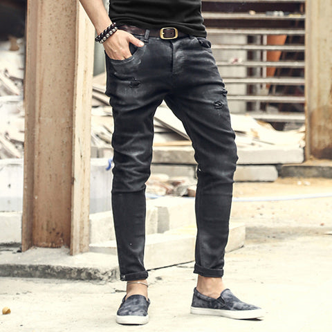 Vintage Mens Ripped Jeans Pants