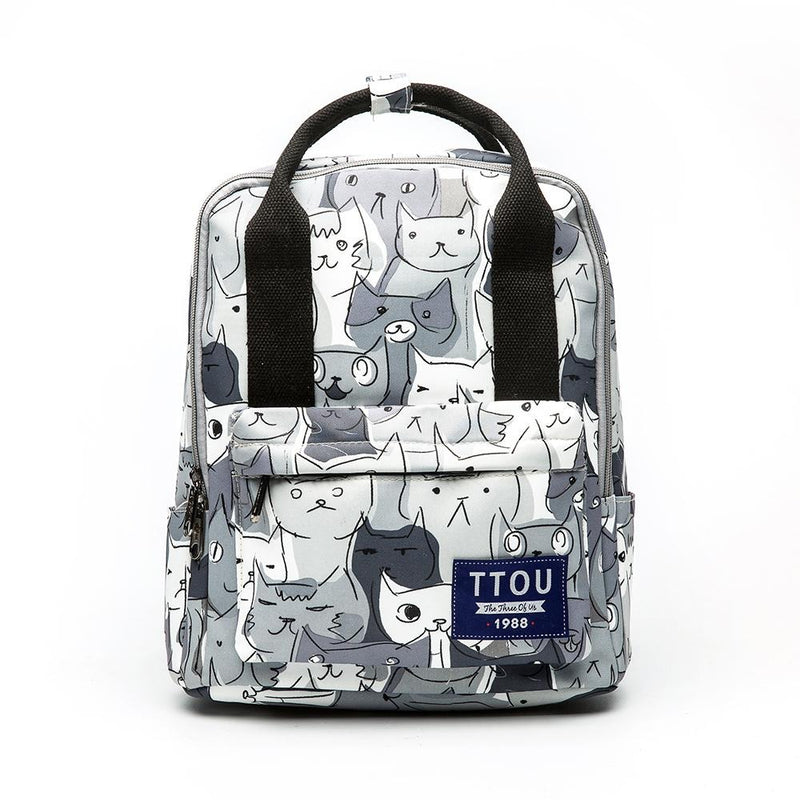 Cat Animal Printing Backpack