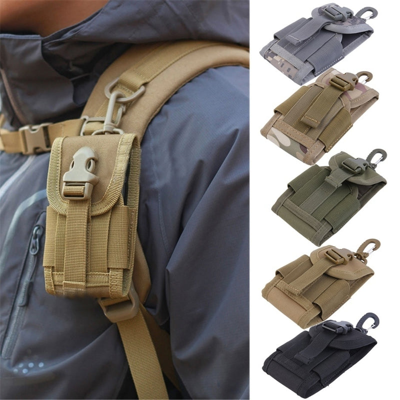 New 4.5 inch Universal Army Tactical Bag Travel Kit Bag for Mobile Phone Hook Cover Pouch Case Outdoor Hiking Accessories
