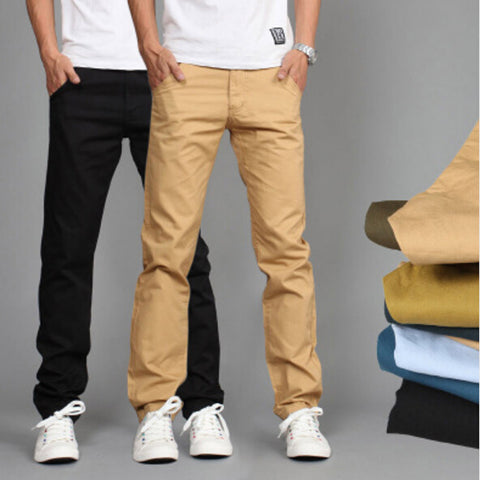 Cotton Slim Pant Straight Trousers