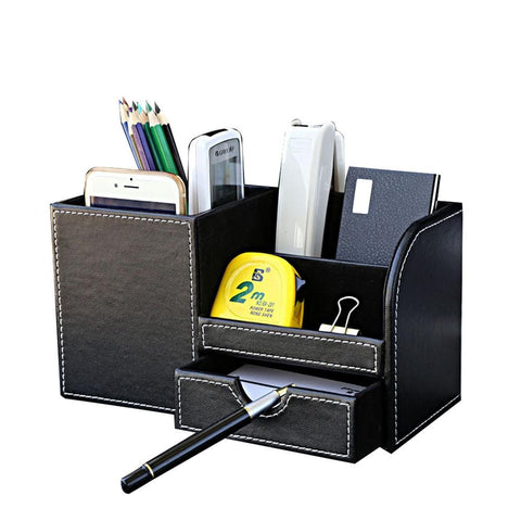 Multi-function Desk Stationery Organizer Pen Holder