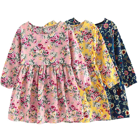 Long Sleeve Floral Princess Dress