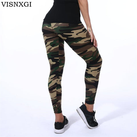 High Elastic Skinny Camouflage Leggings