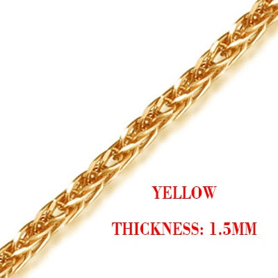 18k Gold Rope Chain Necklace for Women