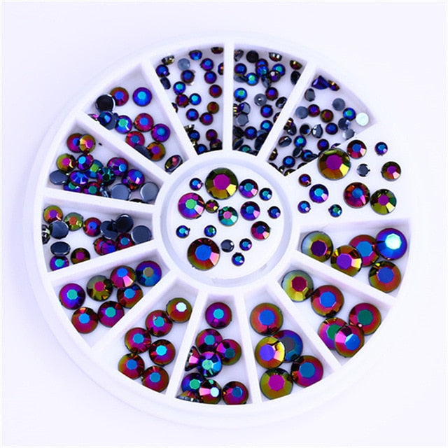 Mixed Color Chameleon Stone Nail Glitters