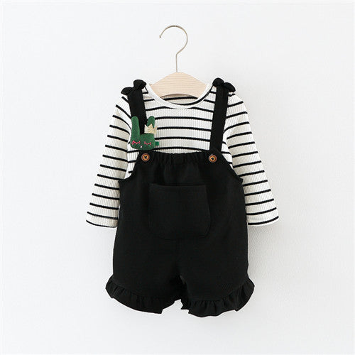 Long Sleeve T Shirt + Overalls Baby Clothing Sets