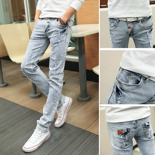 Korean Style Influx Sky Blue Casual Trousers