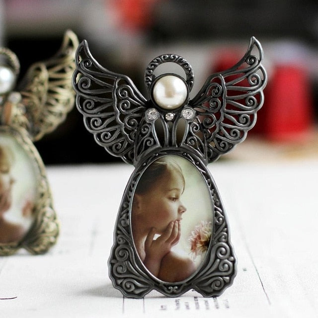Metal Vintage Mini Picture Frames Lovely Angel Style Classic Picture Photo Frame for Home Decor and Gifts Marco De Fotos