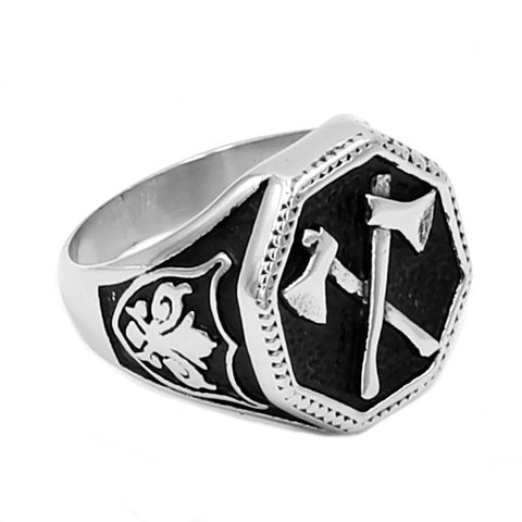 Flower Classic Slavic Perun Motor Biker Men Ring