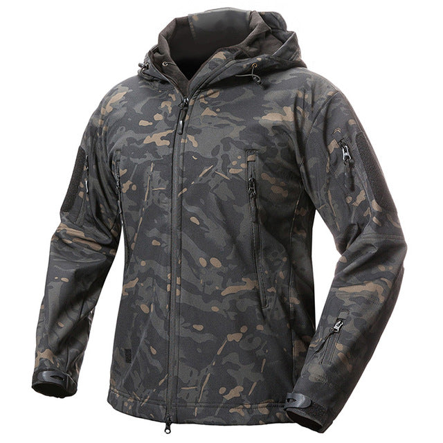 Men Waterproof Winter Fleece Coat