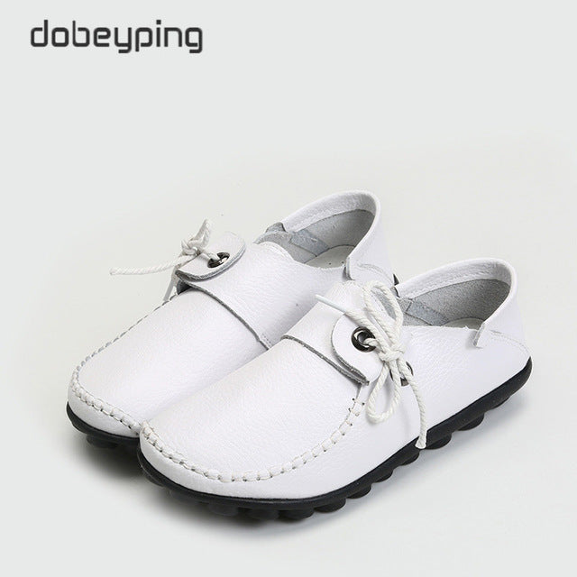 Cow Leather Women's Casual Shoes