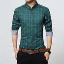 Slim Fit Men Long Sleeve Shirt