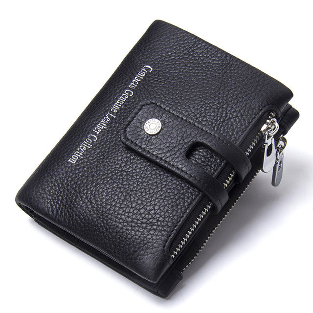 Genuine Crazy Horse Leather Mens Wallet