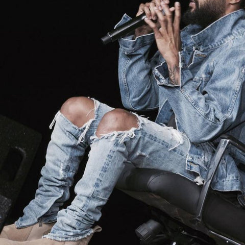 WEST FEAR OF GOD Ripped skinny Jeans