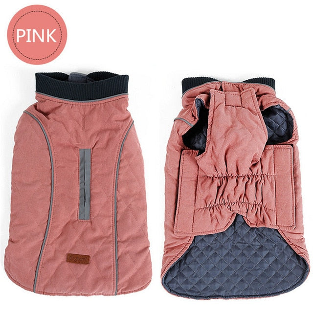 High Quality Dog Clothes Quilted Dog Coat Water Repellent Winter Dog Pet Jacket Vest Retro Cozy Warm Pet Outfit Clothes Big Dogs