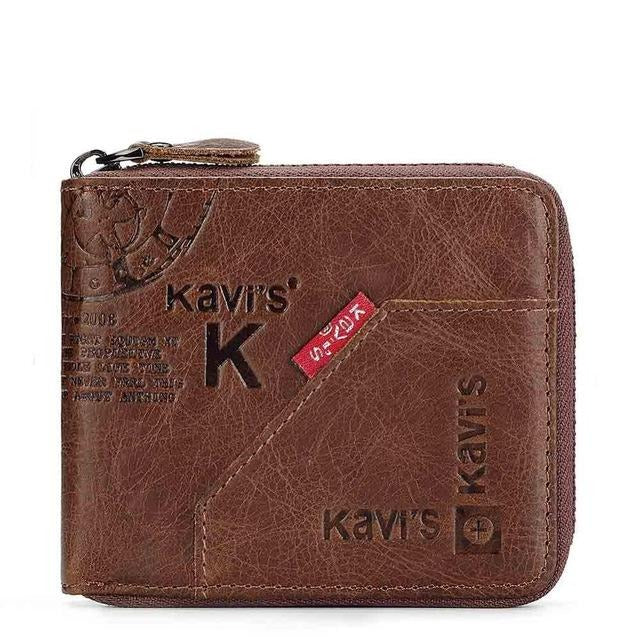 Genuine Leather Wallet Men Coin Purse