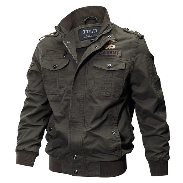 Male Casual Air Force Flight Jacket