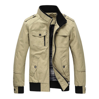 Stand Collar Military Mens Jackets