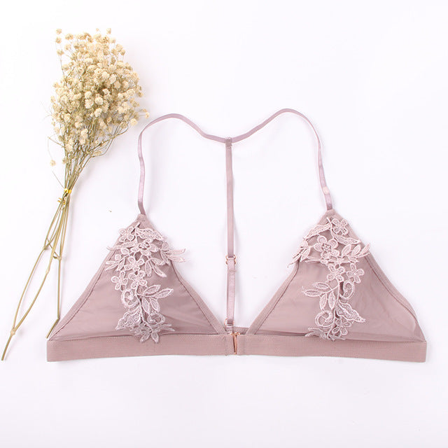 Lace Brassiere Transparent Push Up Bra
