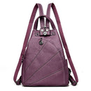 Women Backpack Leather School Bags