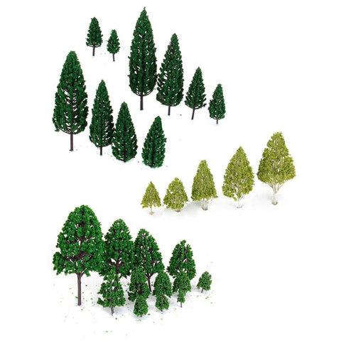 Mini Tree Set Scenery Architectural Landscape Model Trees Artificial Tree Fake Plant For Home Party Game Decoration