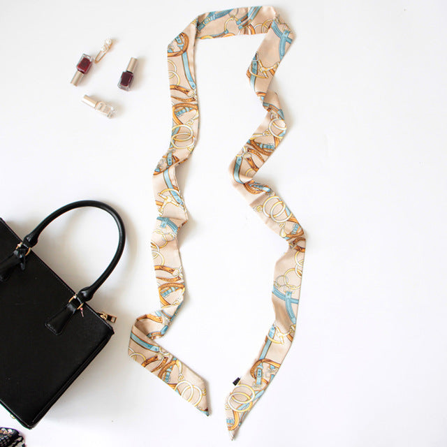 Style Small Print Silk Scarf